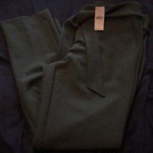 Beautiful forest green LOFT tie waist pencil pants